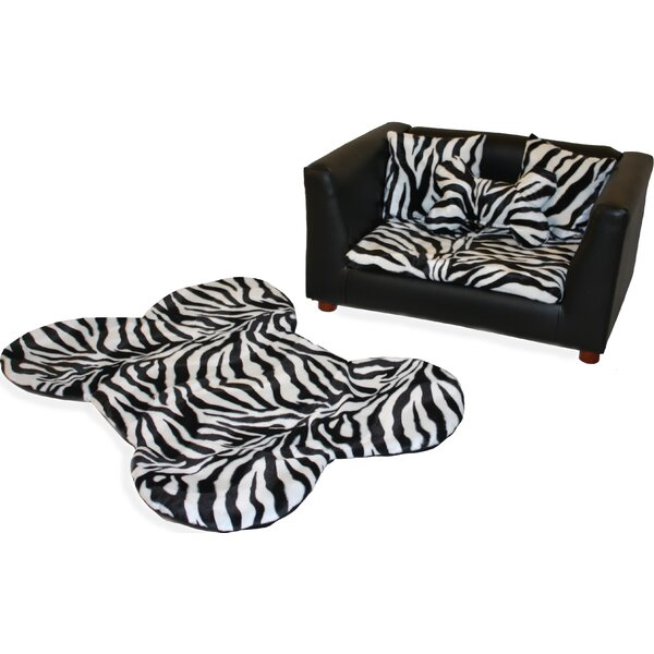 Ozzie Orthopedic Zebra Memory Foam Dog Chair Set by Tucker Murphy Pet