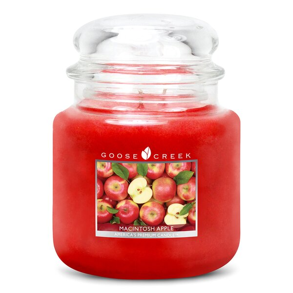 Essential Series Macintosh Apple Scented Jar Candle by Goose Creek Candle Company