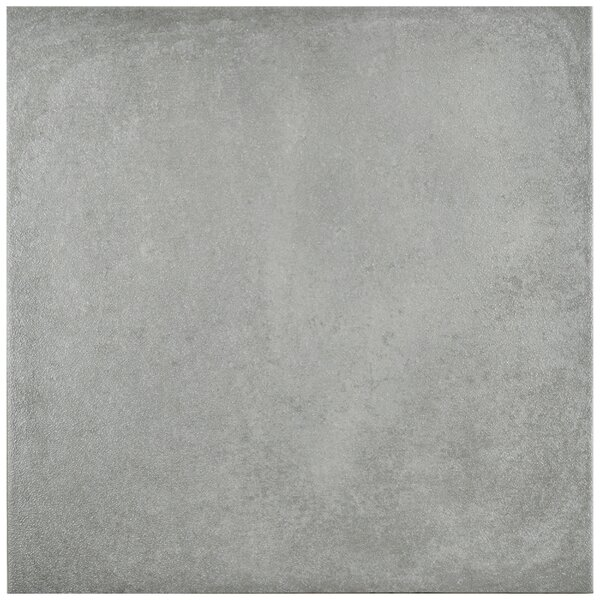 Symbals 14.13 x 14.13 Porcelain Leather Look Tile in Light Gray by EliteTile