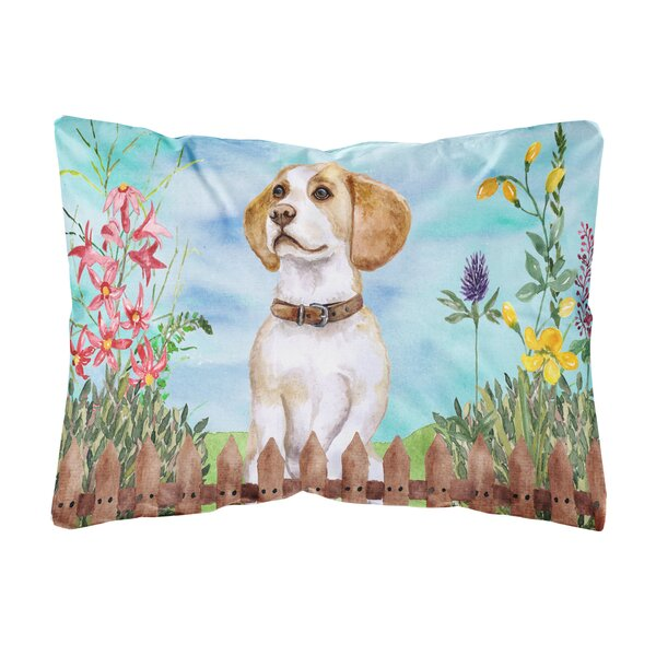 Schiavo Beagle Spring Indoor/Outdoor Throw Pillow by Winston Porter