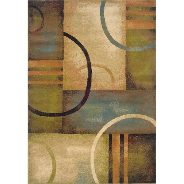 Bienville Brown/Gold Area Rug by Andover Mills