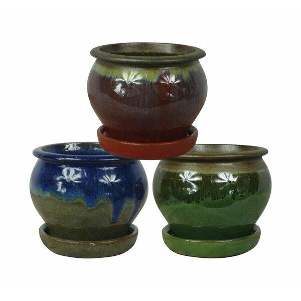 Olson Ceramic Pot Planter (Set of 3) by World Menagerie