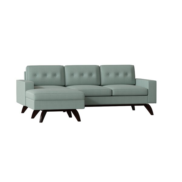 Luna Right Hand Facing Sectional Collection By TrueModern