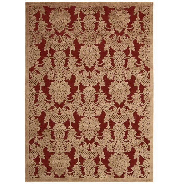 Riffe Red Area Rug by Alcott Hill