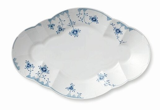 Blue Elements Oval Platter by Royal Copenhagen