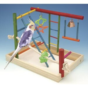 Large Wooden Playground Bird Activity Center