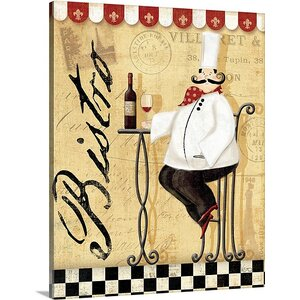 'Chef's Break I' by Veronique Charron Vintage Advertisement on Wrapped Canvas by Great Big Canvas