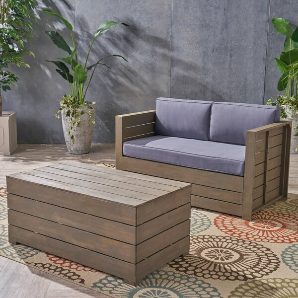 2 Piece Conversation Set with Cushions by Williston Forge
