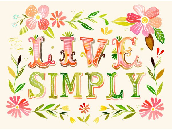 Live Simply Canvas Art by Oopsy Daisy