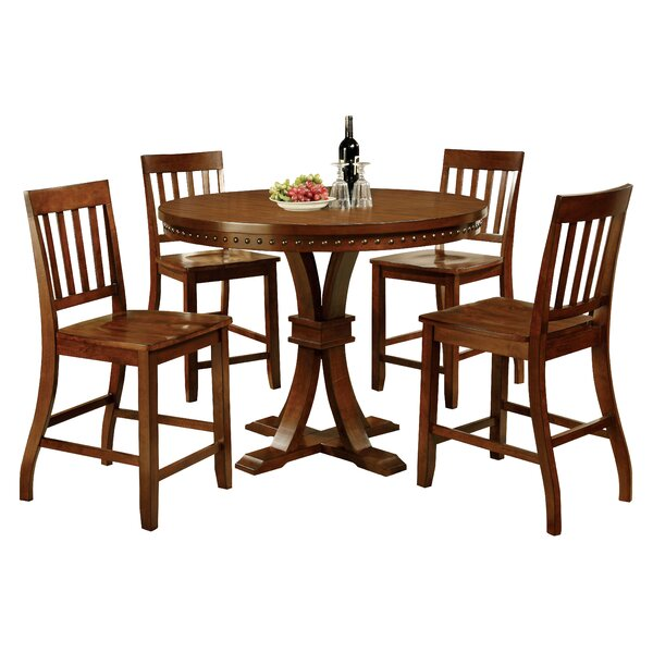 Jared 5 Piece Counter Height Dining Set by Hokku Designs