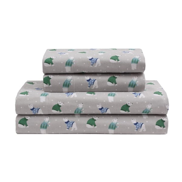 Cecilia Winter Nights Cotton Flannel Sheet Set by The Holiday Aisle