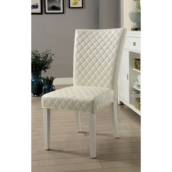 Karg Contemporary Upholstered Dining Chair (Set of 2) by Orren Ellis
