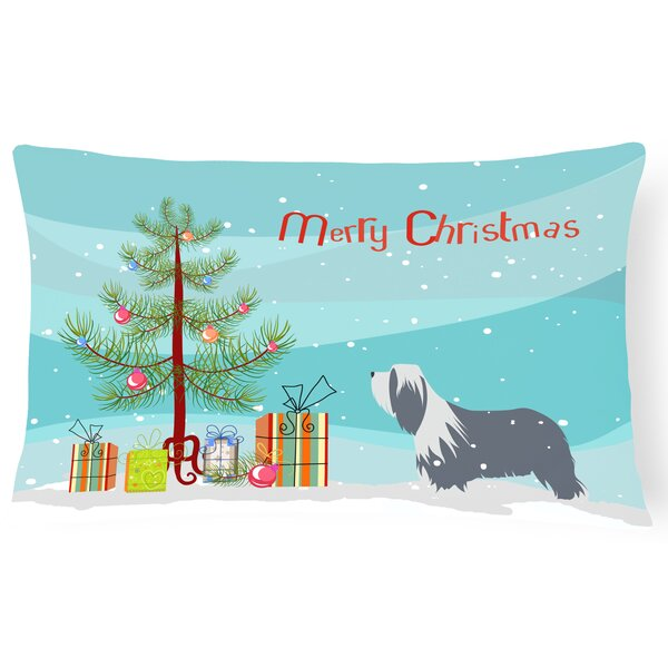 Bearded Collie Indoor/Outdoor Lumbar Pillow by The Holiday Aisle