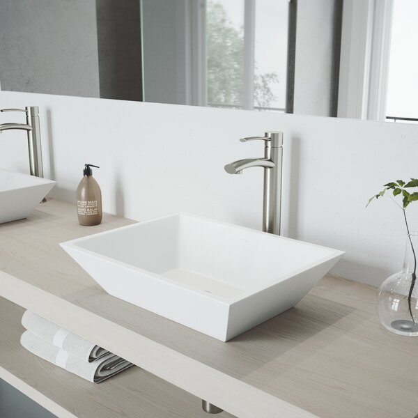 Milo Vessel Sink Bathroom Faucet with Drain Assembly