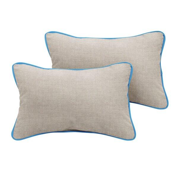 Malvern Sunbrella Cast Outdoor Lumbar Pillow (Set of 2) by Rosecliff Heights