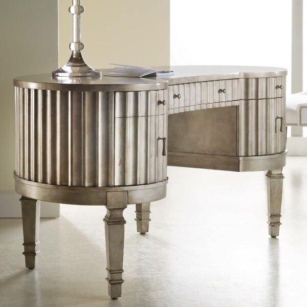 Melange Fluted Kidney Executive Desk by Hooker Furniture