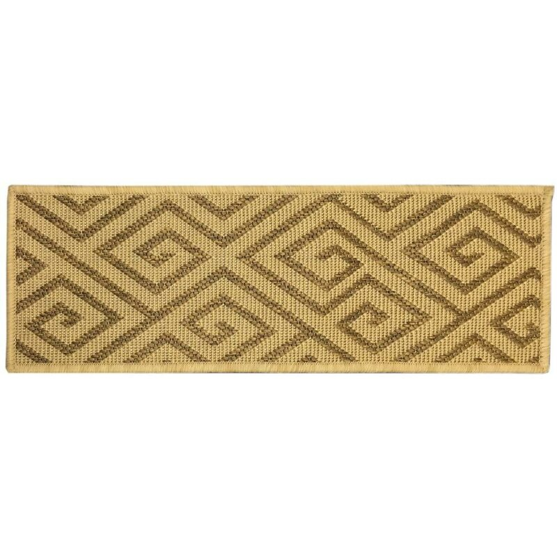 Ratcliff Jute Back Indoor And Outdoor Carpet Camel Stair Tread
