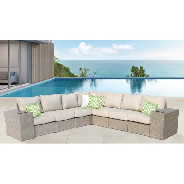 Almyra 9 Piece Sectional Seating Group with Cushions by Sol 72 Outdoor