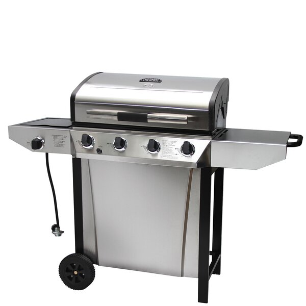 Thermos 4-Burner Liquid Propane Gas Grill with Side Shelves by Thermos