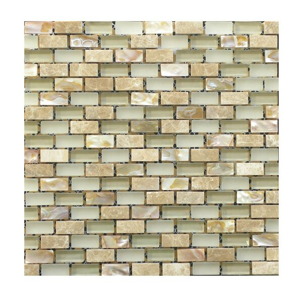 Glass Mosaic Tile in Beige by QDI Surfaces
