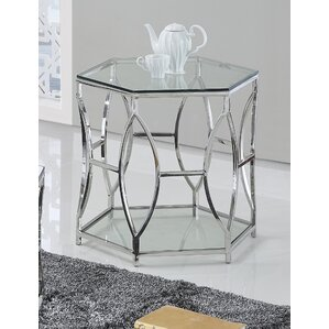 Octagon End Table by BestMasterFurniture