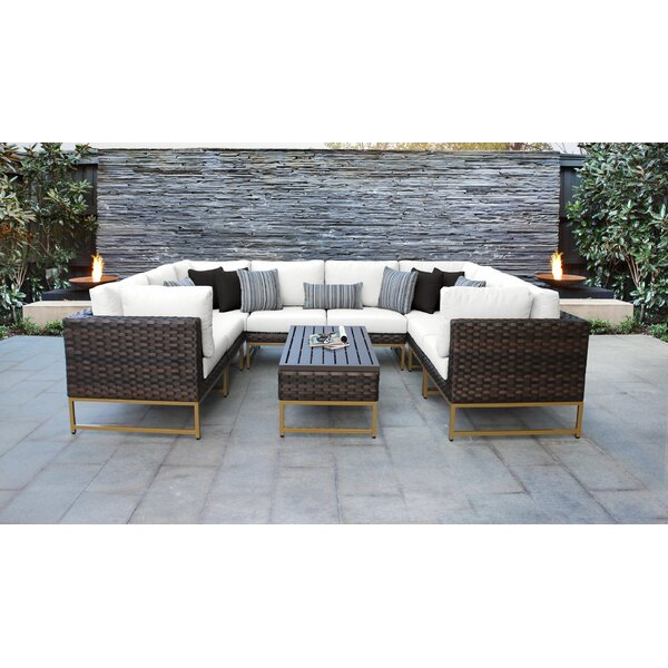 Mcclurg 9 Piece Sectional Seating Group with Cushions by Darby Home Co