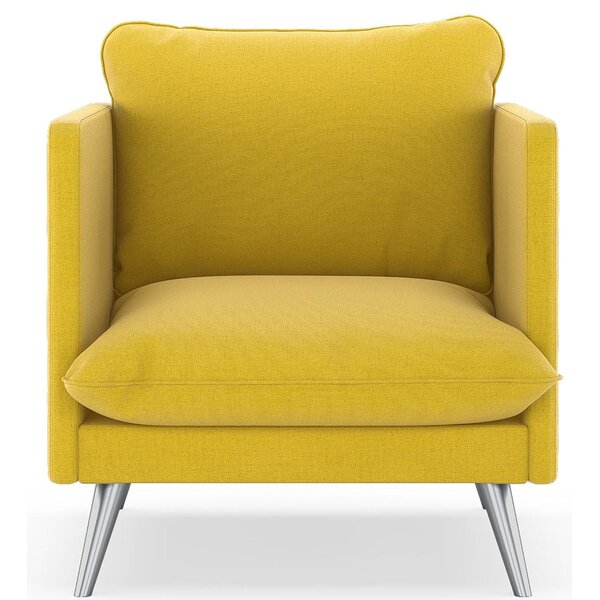 Covert Oxford Weave Armchair by Corrigan Studio