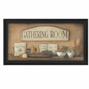 'Gathering Room' Framed Graphic Art Print by Trendy Decor 4U