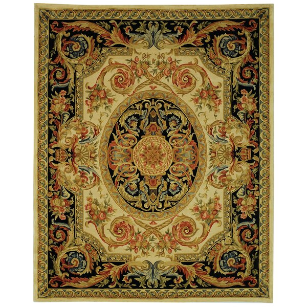 Chaplain Ivory/Gold Area Rug by Astoria Grand