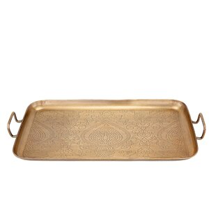 Rectangular Etched Steel Tray