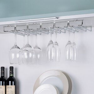 Shelf Hanging Wine Glass Rack by Rebrilliant