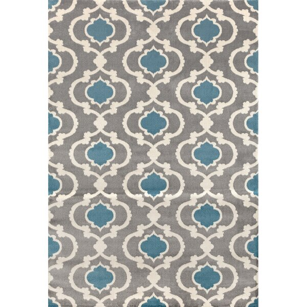 Melrose Gray/Blue Area Rug by Andover Mills