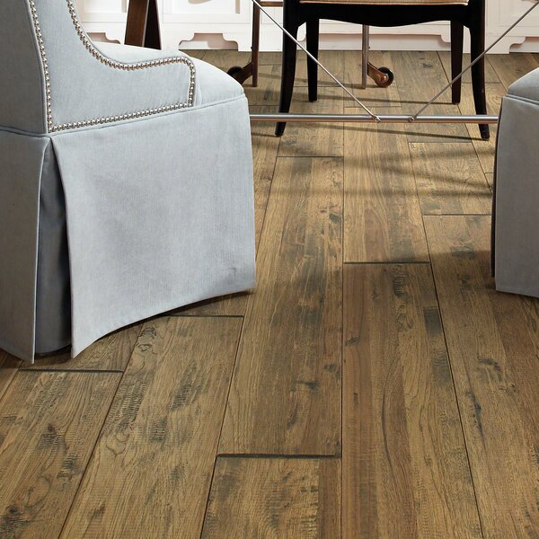 Ridge 8 Solid Hickory Hardwood Flooring in Goose by Shaw Floors