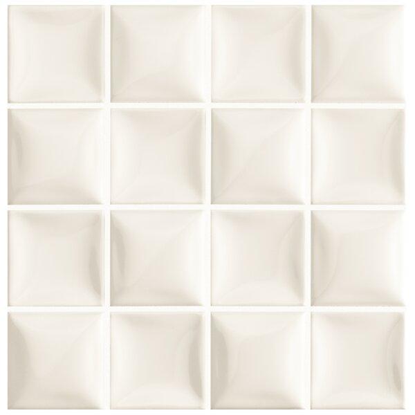 Catarina 7.88 x 7.88 Ceramic Field Tile in Marfil Soft White by EliteTile