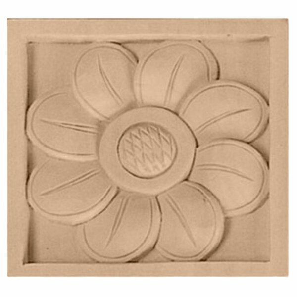 Sunflower 3 1/2H x 3 1/2W x 3/4D Medium Rosette by Ekena Millwork