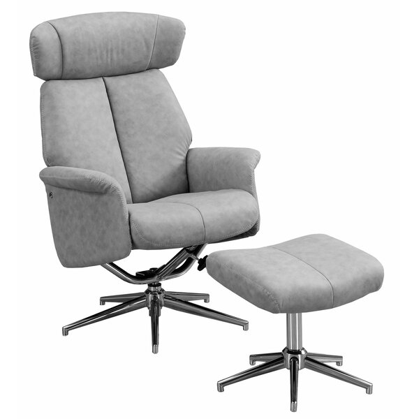 Maag Adjustable Headrest Manual Swivel Recliner by Ivy Bronx