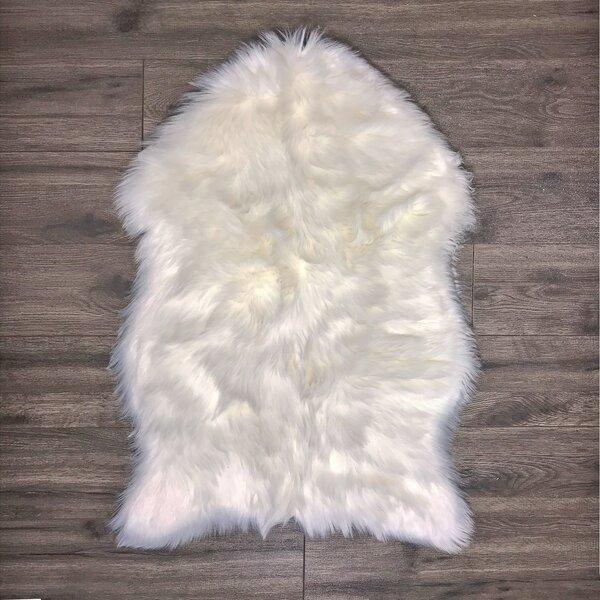 Merrimac Super Soft Sheepskin White Area Rug by Union Rustic