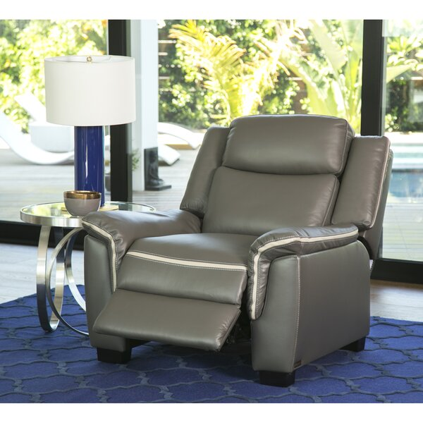 Toro Leather Power Recliner by Latitude Run