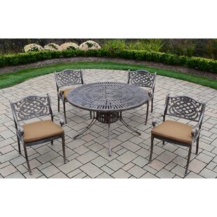 Sunray Mississippi 5 Piece Dining Set with Cushions ByOakland Living