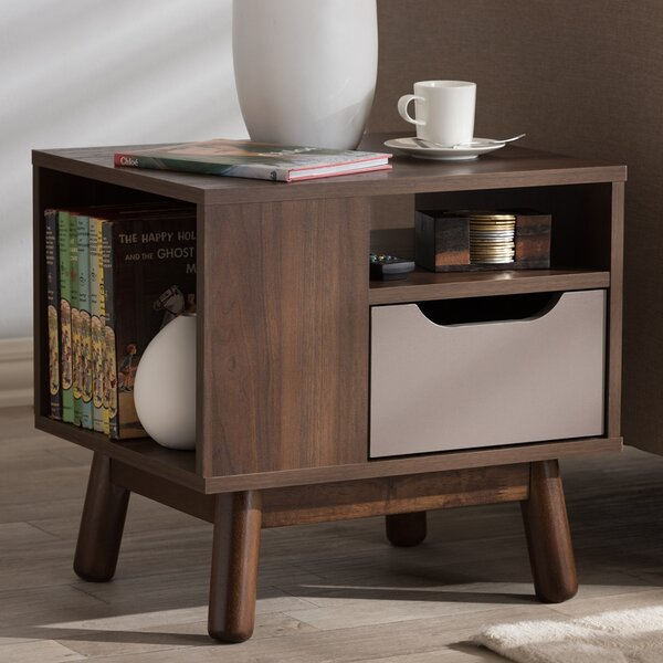 Review Petillo 1 Drawer Nightstand