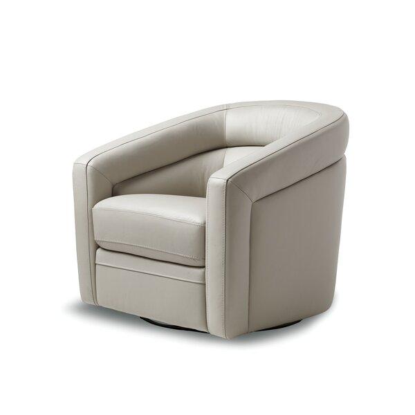 Pothier Swivel Barrel Chair By Orren Ellis