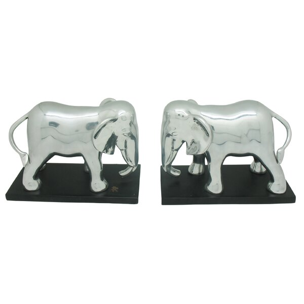Elephant Book Ends (Set of 2) by Bloomsbury Market