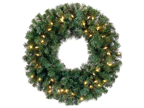 Pre-Lit Deluxe Windsor 16 Pine Artificial Christmas Wreath by Northlight Seasonal