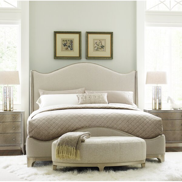 Avondale Brushed Tweed Upholstered Standard Bed by Caracole Compositions