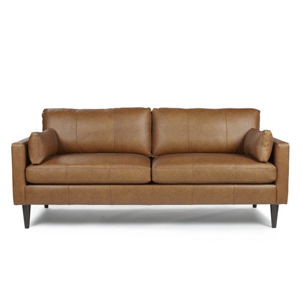 Cayenna Genuine Leather 81'' Square Arm Sofa By Corrigan Studio