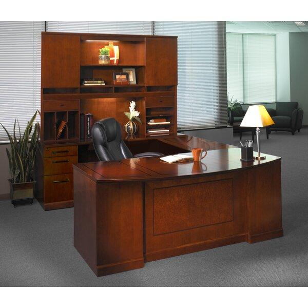 Sorrento Series U-Shape Executive Desk with Hutch by Mayline Group