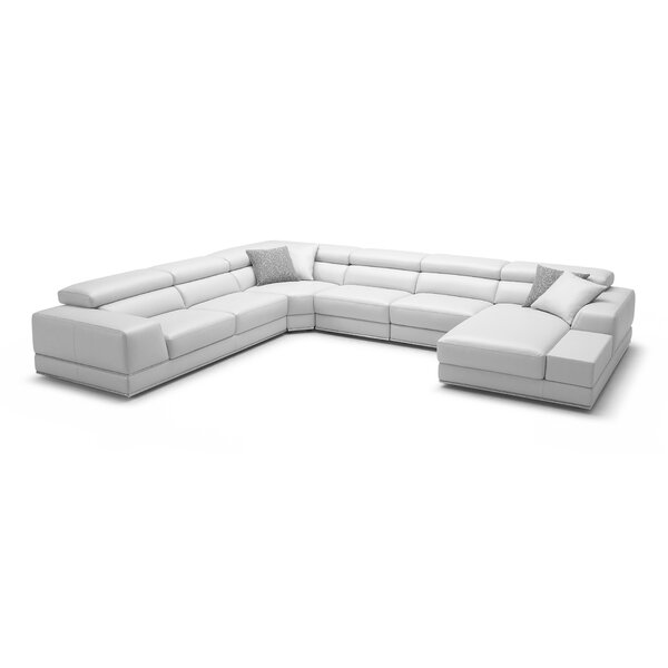 Leather Right Hand Facing Sectional