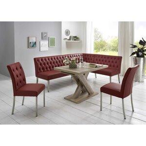 Eckbankgruppe Thedford mit ausziehbarem Tisch, 2 Stühlen und einer Bank von Brayden Studio