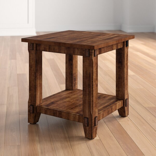 Kemper Wood End Table By Three Posts