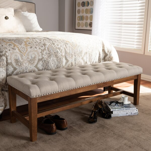 Chon Wood Bench by Gracie Oaks